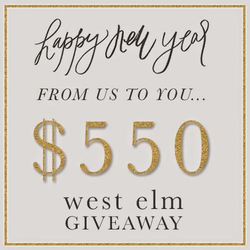 $550 West Elm giveaway on Instagram