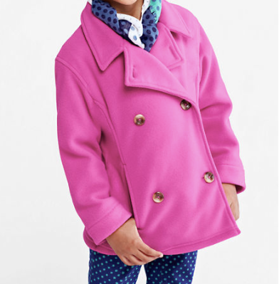 kid's fleece peacoat from Land's End