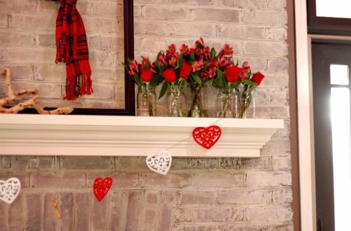 valentines decorating