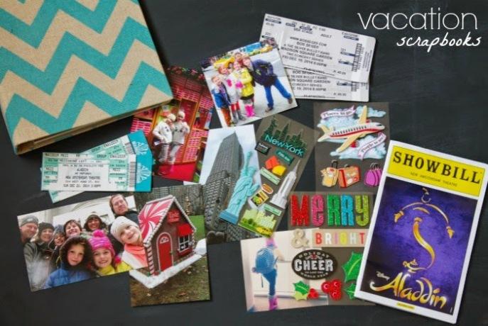 kids idea - vacation scrapbooks