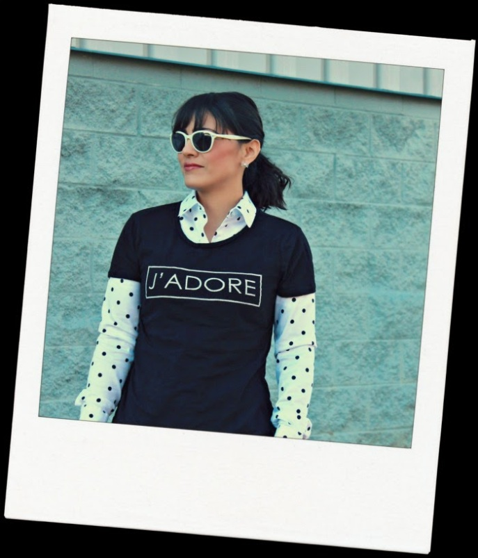 short sleeve graphic tee layered over a long sleeve buttoned down