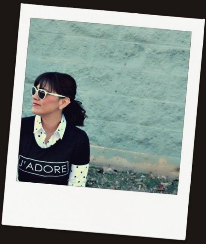 graphic tee + collared shirt