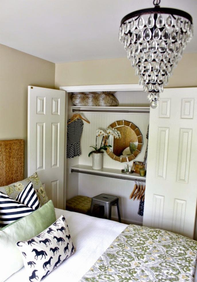 vanity in a closet