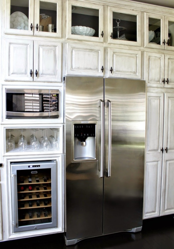 built-in look wine cooler - microwave