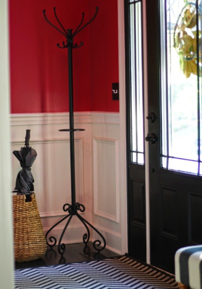 entry foyer - black interior door