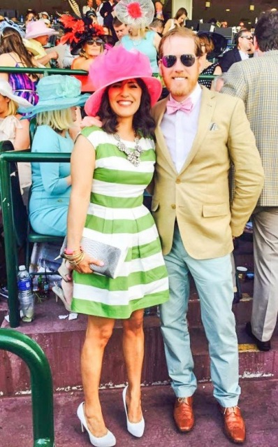 Kentucky Derby style - pink and green