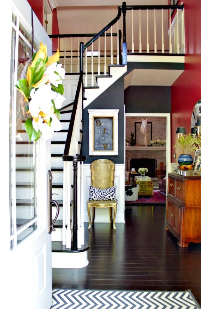 two story entry foyer