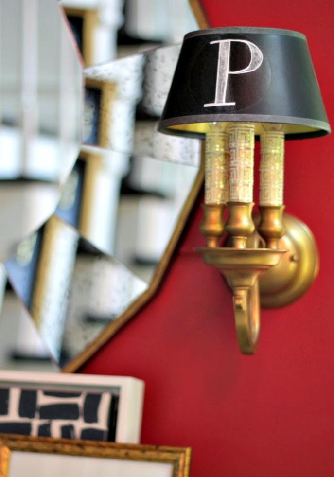 madeover brass sconces with rub n' buff