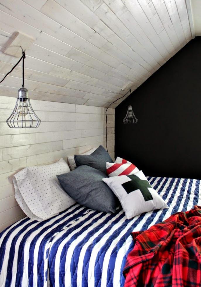 whitewashed wood wall