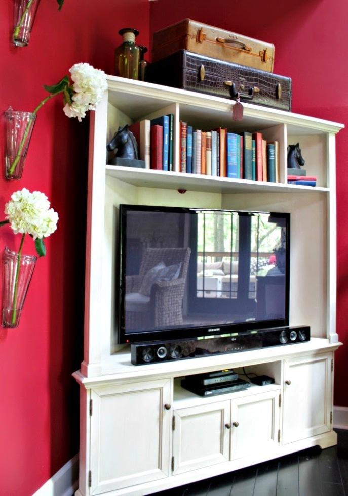 corner television armoir from Ballard Designs