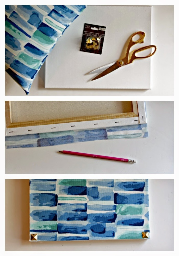 simple art diy by deconstructing a pillow