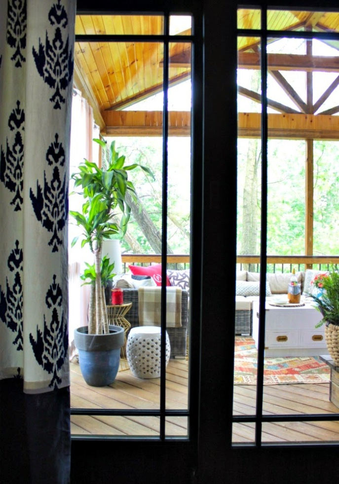 screened porch/deck tour