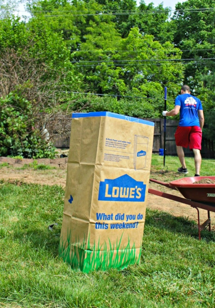 backyard makeover with Lowe's