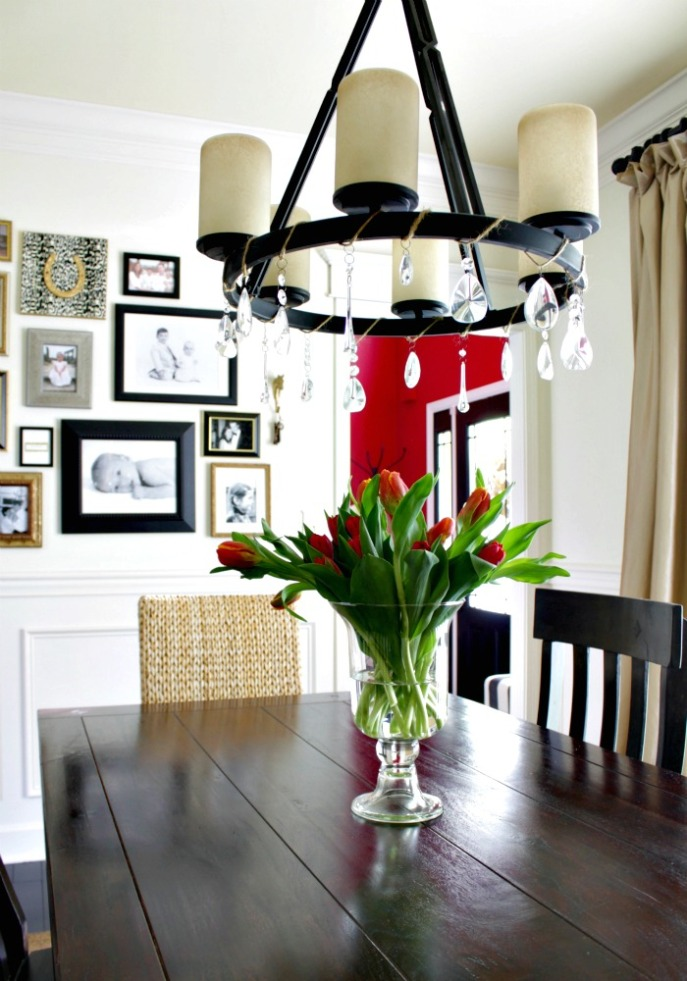 dining room tour and makeover story