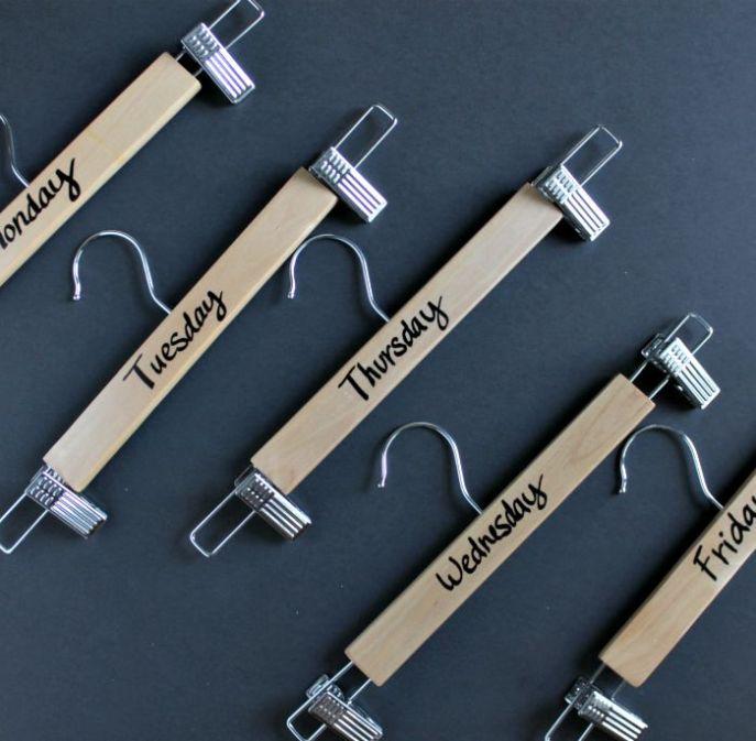 diy days of the week hangers