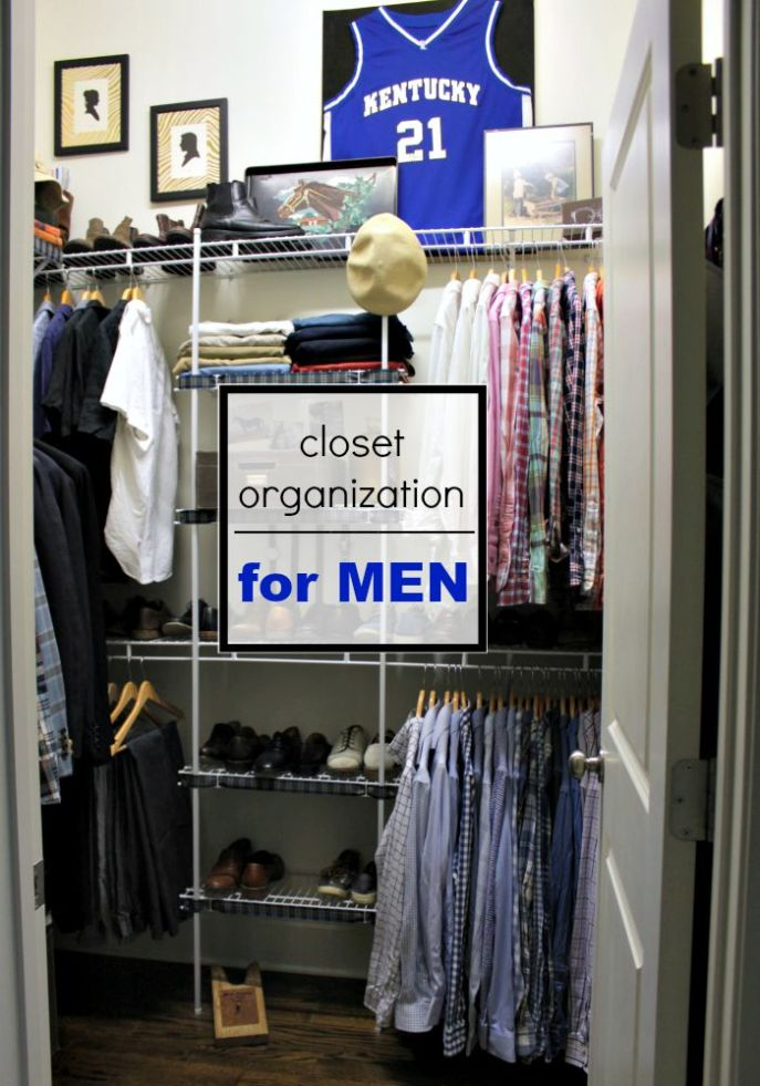 closet organization for men