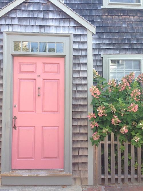 pink/coral door