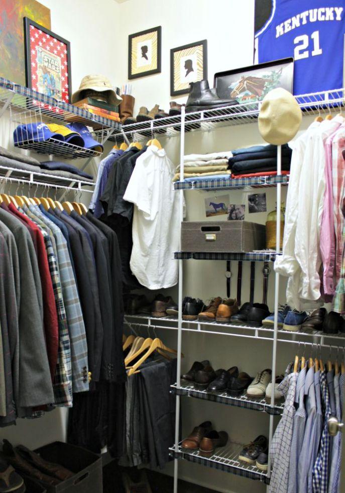 mens closet organization
