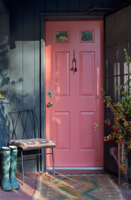 pink coral door