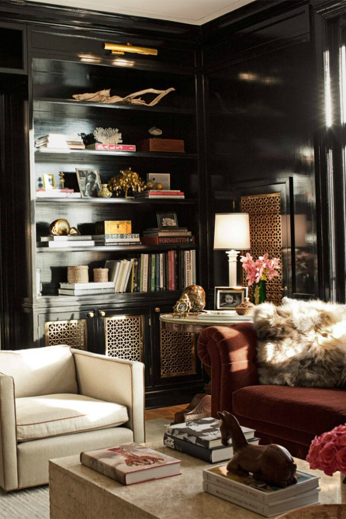 black bookcases - timeless and chic