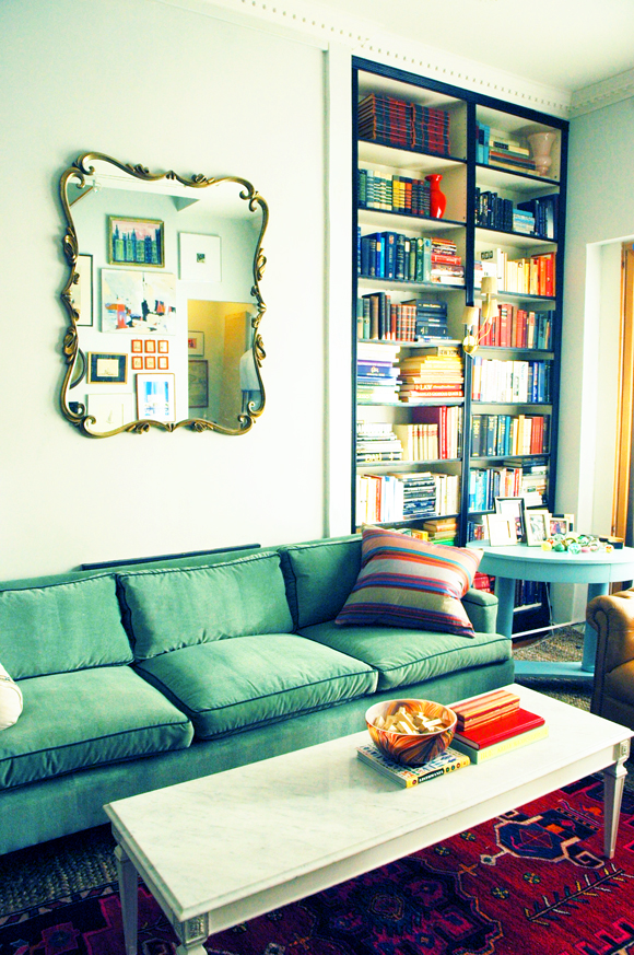 inspired design - black bookcases - design by Jenny @ Little Green Notebook