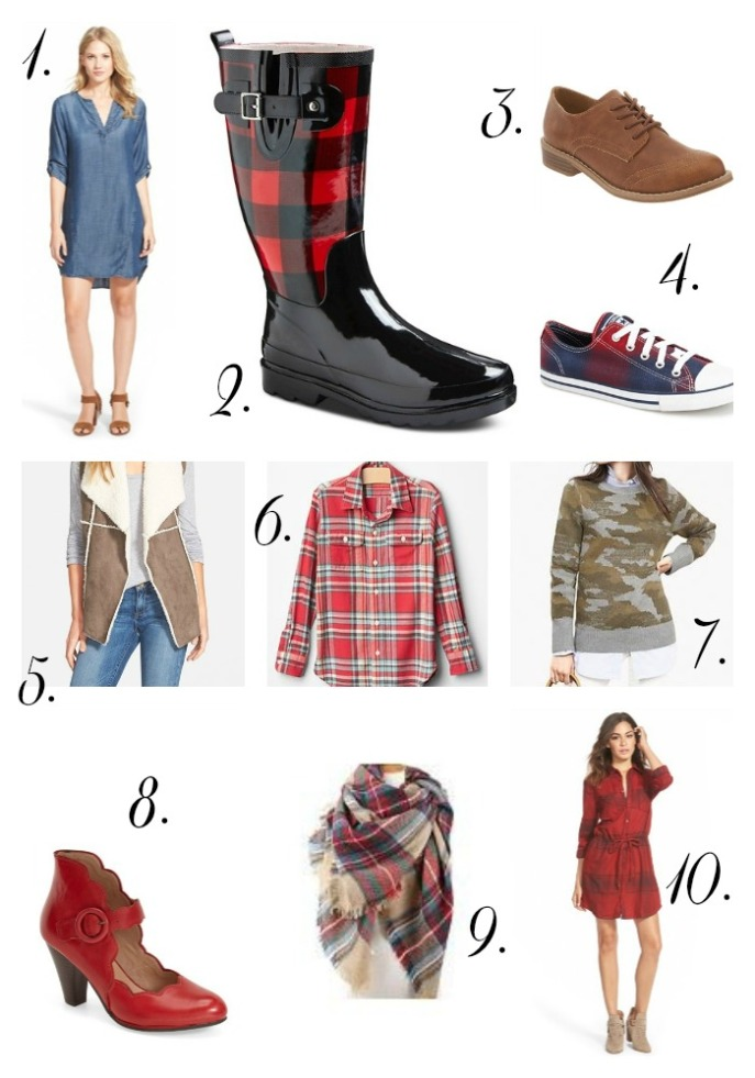 fall clothing collection pieces