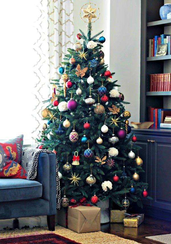 Jewel toned Christmas Tree