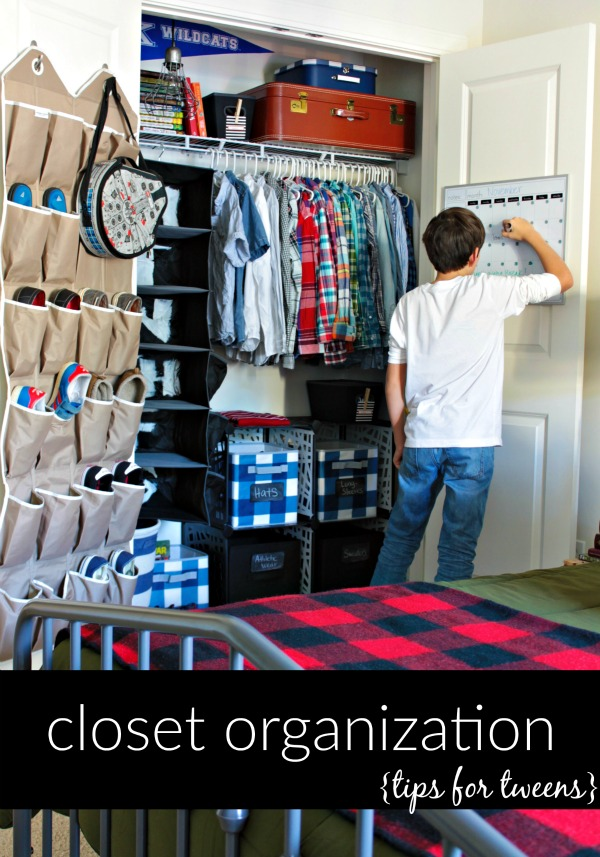 closet organization - tips for tweens