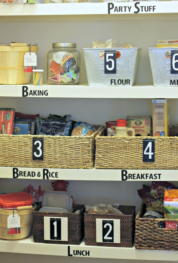 simple tips for pantry organization - label with repositionable vinyl letter stickers
