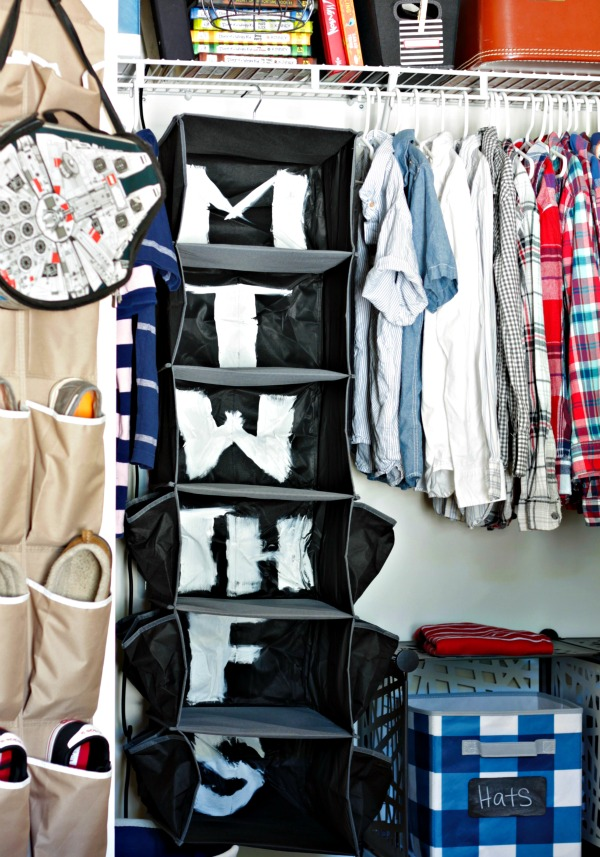 use a sweater organizer as a days of the week organizer for weekly outfit planning