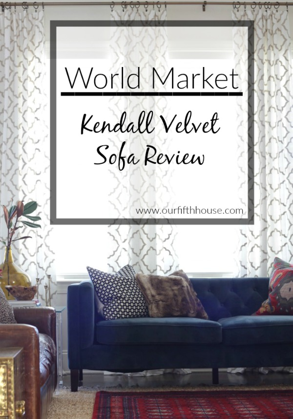 World Market Kendall Velvet Sofa Review