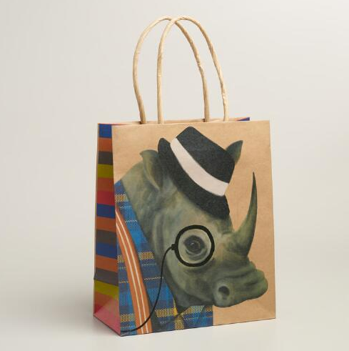 gift bags make for great inexpensive art