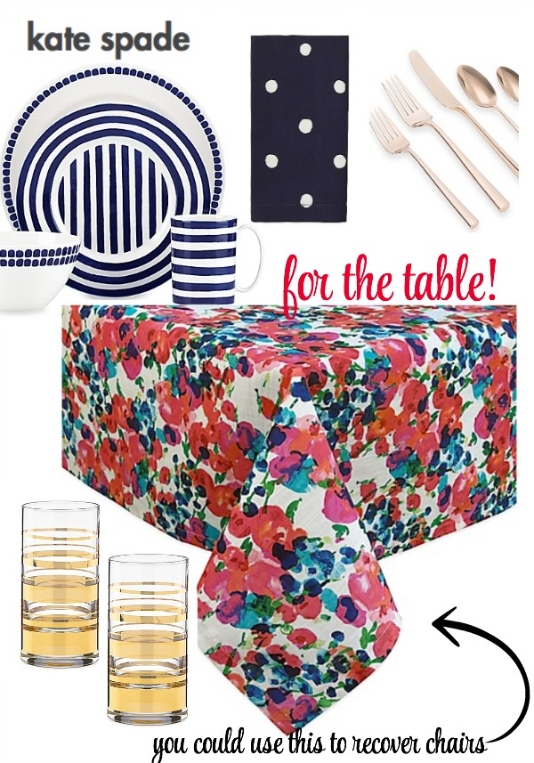 Kate Spade for the table