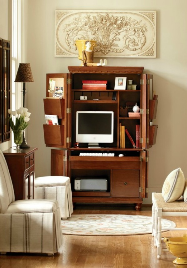 decorating above a cabinet - hang something sculptural - vis Ballard Designs