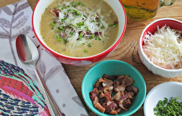 loaded smashed potato soup