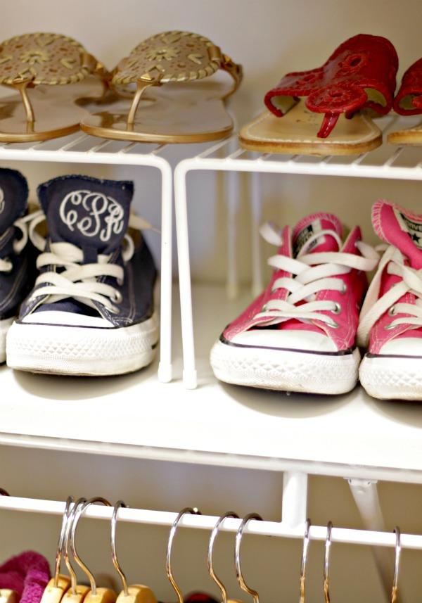 shelf risers for shoe shelves