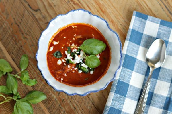 tomato basil chicken soup
