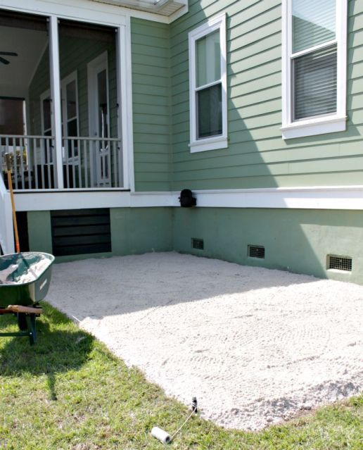 paver patio process
