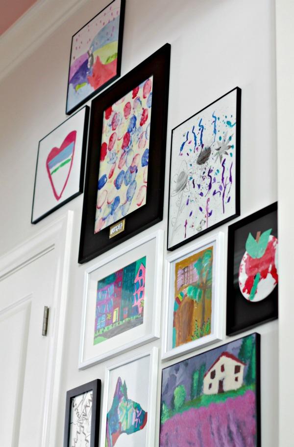 kids art gallery hallway