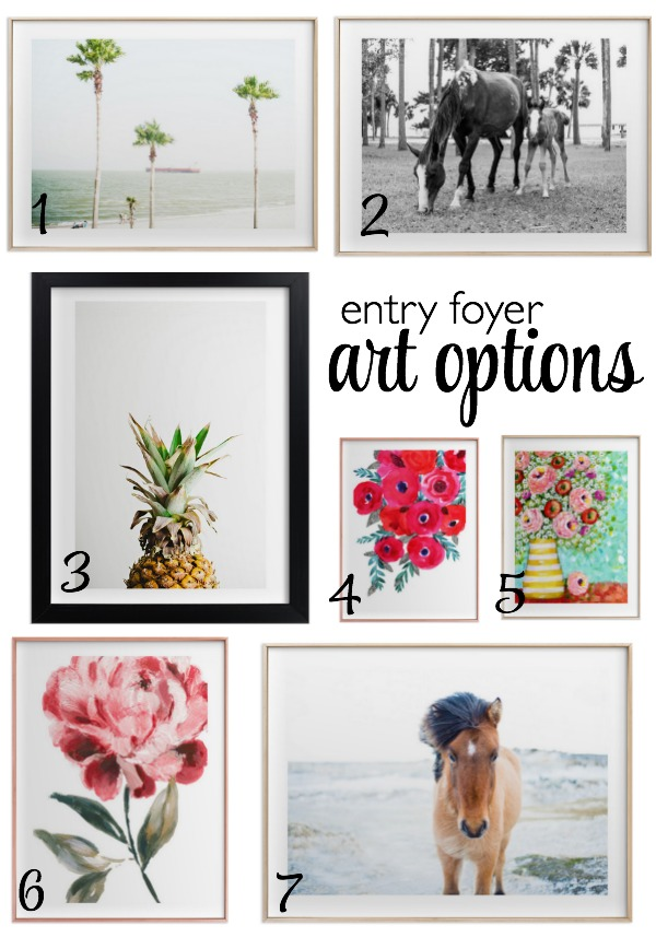 Beautiful Art Options for the Entry Foyer from Minted