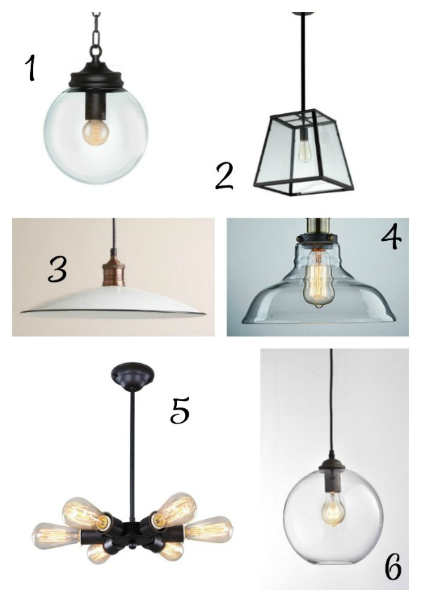 lighting options for pendants over a kitchen island