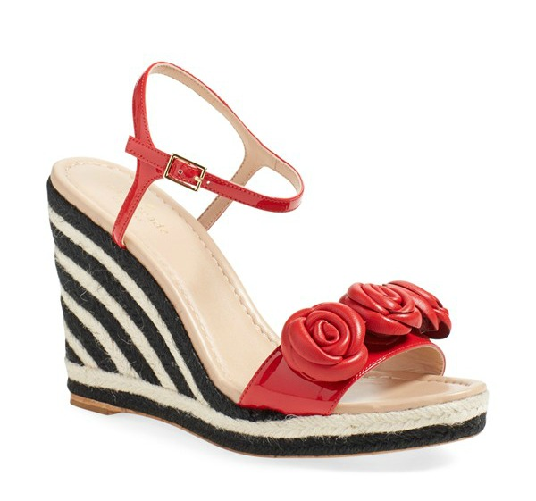 Style Files - Florals for Spring - Wedge Sandals