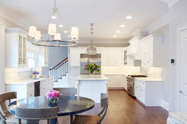 how to coordinate lighting in your kitchen - island and breakfast nook combinations