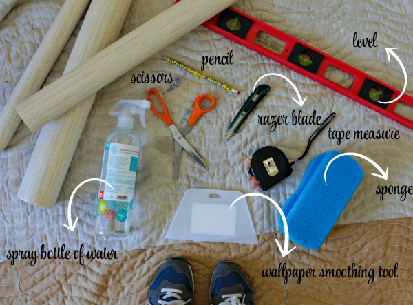 How to hang pre-pasted wallpaper - the supplies
