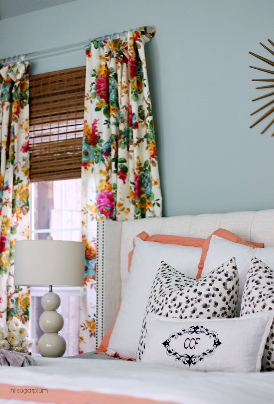 Floral print curtains via Hi Sugarplum